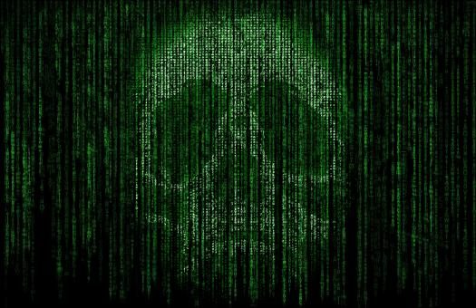 Free Stock Photo of Skull Formed by Computer Code -  Cyber Crime
