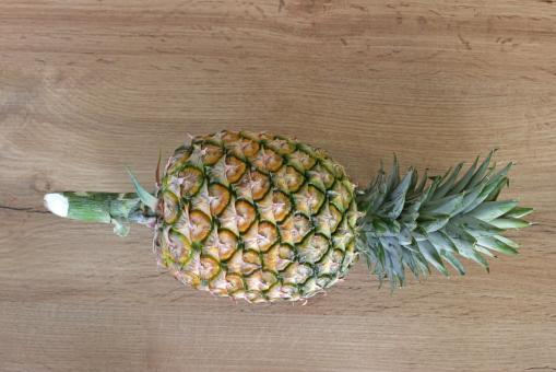 Free Stock Photo of Whole Pineapple Above View