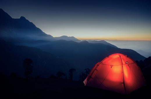 Free Stock Photo of Camping in the Mountains - Enjoying the Great Outdoors