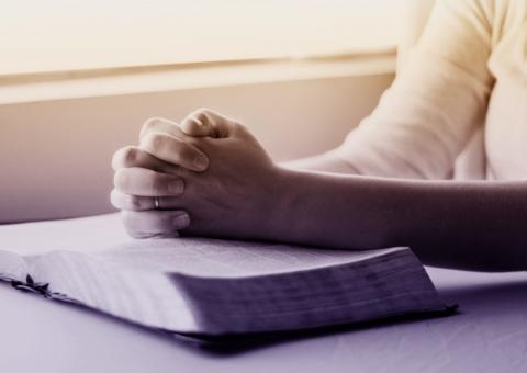 Free Stock Photo of Praying Hands over Bible - Person Praying - Belief - Faith