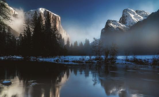 Free Stock Photo of Yosemite National Park in Deep Winter