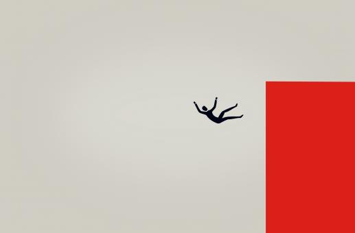 Free Stock Photo of Man in Free Fall - Illustration