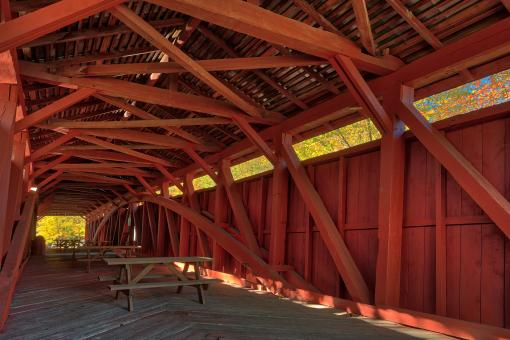 Free Stock Photo of Stillwater Covered Bridge
