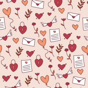 Free Stock Photo of Colorful Valentine's Pattern