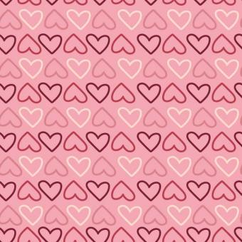 Free Stock Photo of Hearts Seamless Pattern
