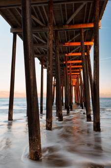 Free Stock Photo of Boardwalk Pylons of Ocean City