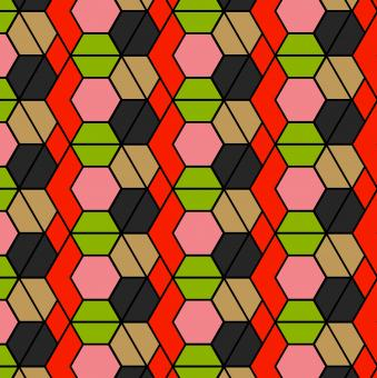 Free Stock Photo of Hexagonal outlines repeat pattern