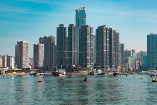 Free Stock Photo of Hong Kong Harbor view