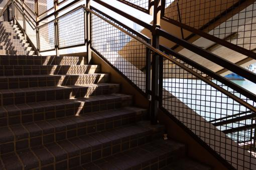 Free Stock Photo of Close-up shot of a staircase with sunlight