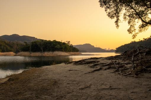 Free Stock Photo of Sunset view of Shing Mun Reservoir in Hong Kong