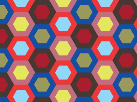 Free Stock Photo of Colorful hexagonal repeat pattern