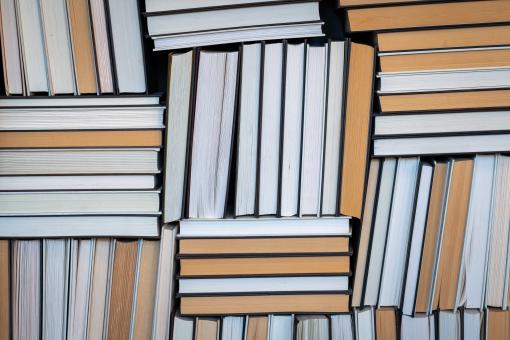 Free Stock Photo of Stacked Books Photo