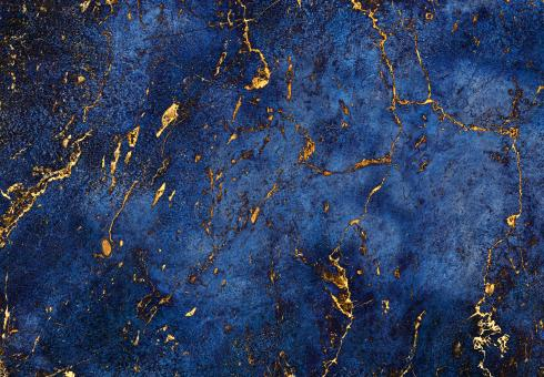 Free Stock Photo of Blue Marble with Gold Incrustations