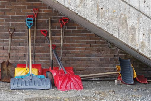 Free Stock Photo of Snow shovels