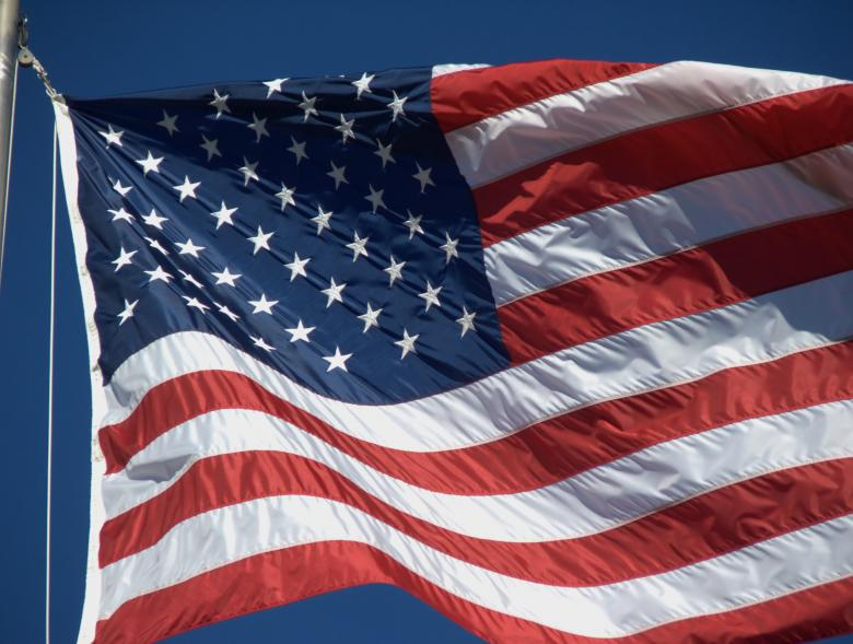Free Stock Photo of American Flag Created by Heather Elaine Kitchen
