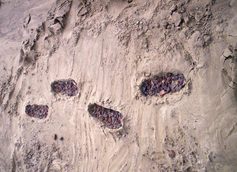 Free Stock Photo of Footprints in the sand Created by Peter Alexander Robb