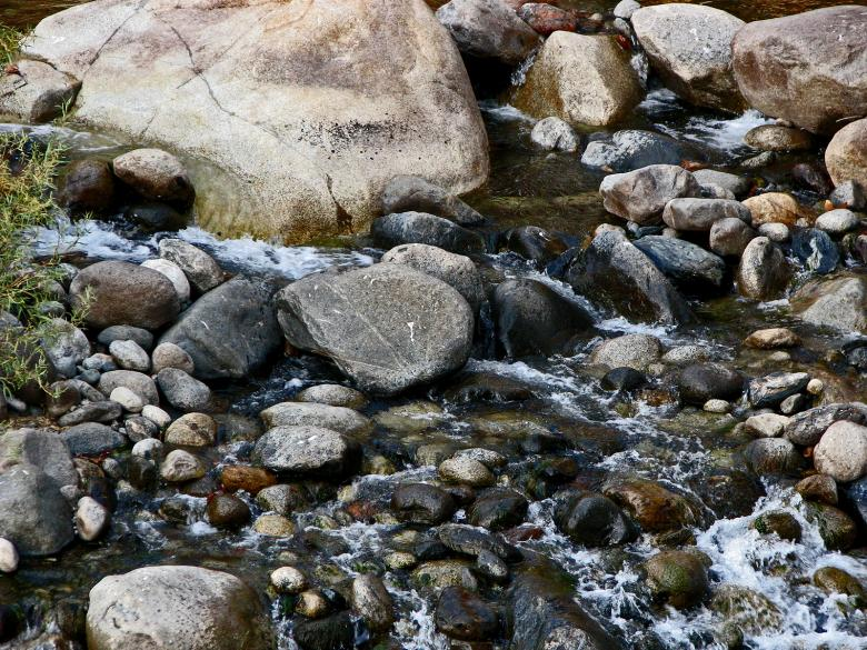 Free Stock Photo of Trickling Over the Rocks Created by bonnie l. mahaffey