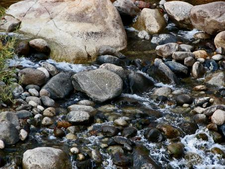 Trickling Over the Rocks - Free Stock Photo