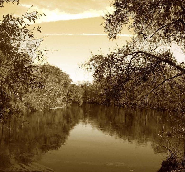 Free Stock Photo of Looking Down Our River Created by b.j. perkins