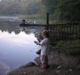 Free Photo - Little fisher girl