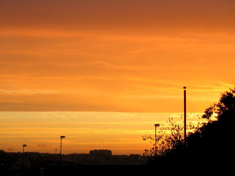 Free Stock Photo of Orange sky Created by nuno ferreira