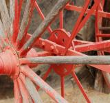 Free Photo - Painted Red Wagon Wheel