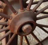 Free Photo - Rusted Iron Wagon Wheel