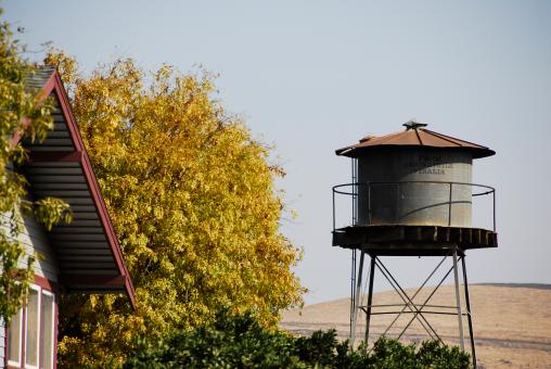 Water Tank in the Foothills - Free Stock Photo