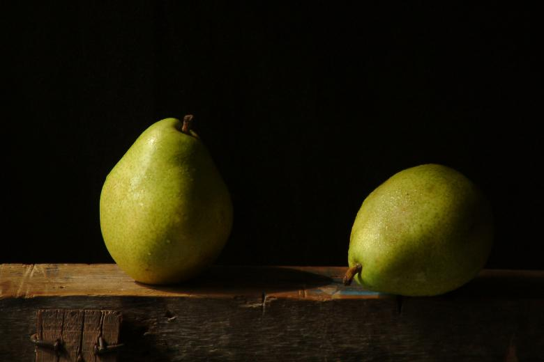 Free Stock Photo of Two Pears Created by edwin s. loyola