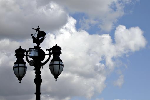 Street lights agains the sky - Free Stock Photo