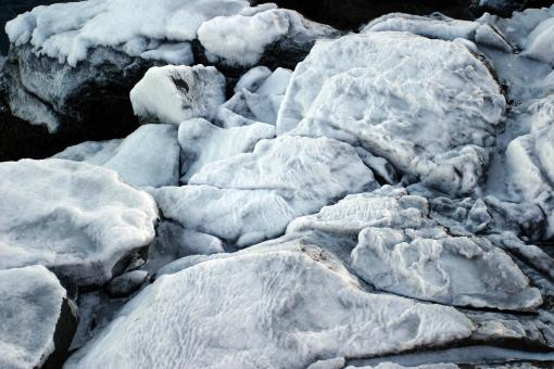 Frozen cliffs - Free Stock Photo