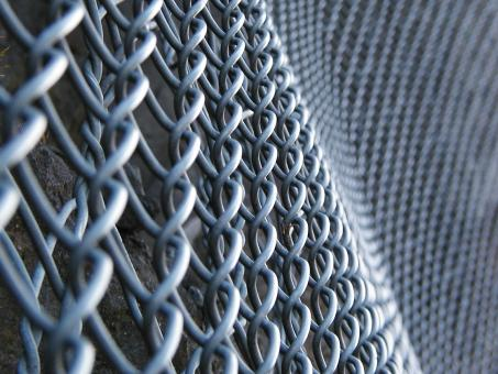 Steel Fence Gridb - Free Stock Photo