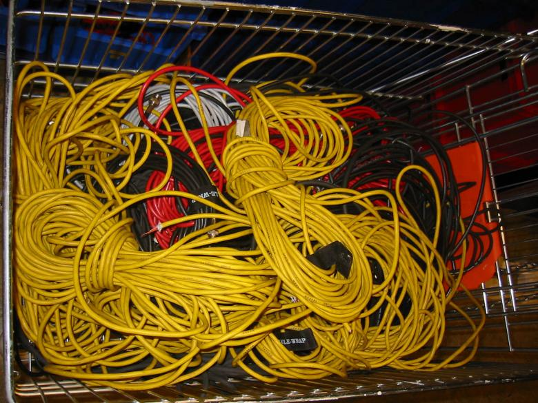 Free Stock Photo of A bunch of yellow cables Created by damien van holten