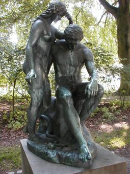Sculpture of man and woman - Free Stock Photo