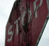 Free Photo - Dirty stop sign