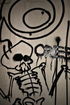 Graffiti skull - Free Stock Photo