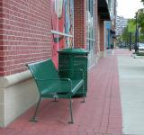 Free Photo - Green bench