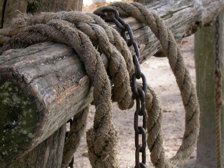 Free Stock Photo of Rope and chain Created by raymond henry