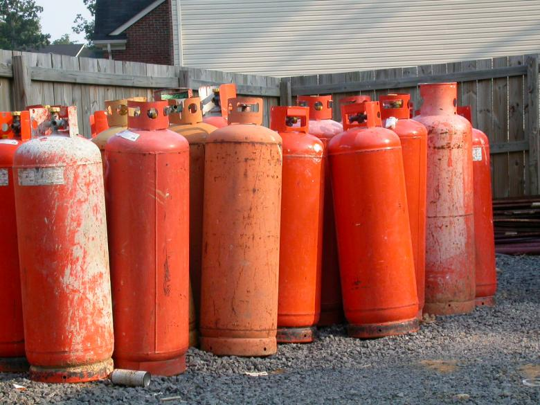 Free Stock Photo of Gas tanks Created by raymond henry