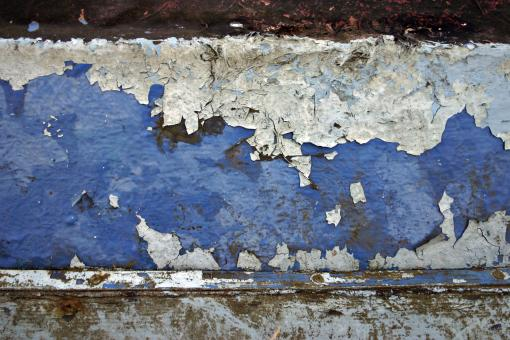 Blue painted surface - Free Stock Photo