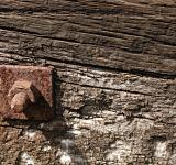 Free Photo - Rusted metal bolt in wood