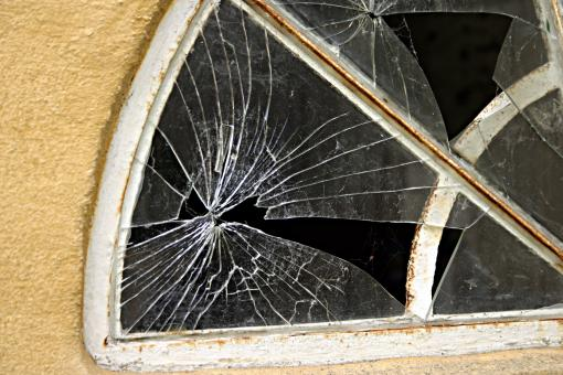 Broken window - Free Stock Photo