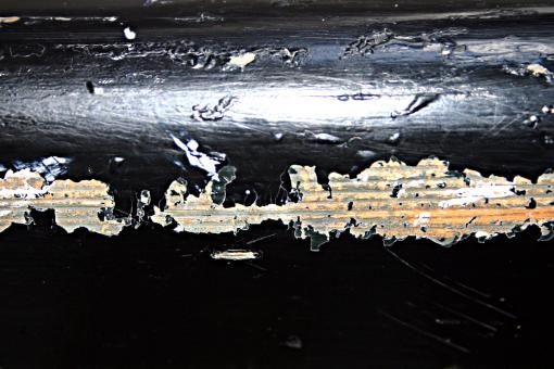 Peeled black paint on wood - Free Stock Photo