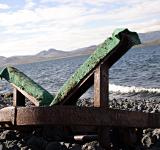 Free Photo - Rusted metal rail by the lake