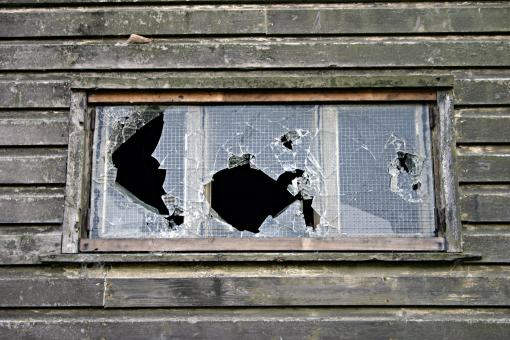 Smashed window - Free Stock Photo