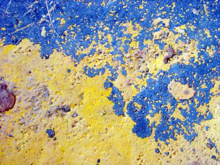 Blue and yellow painted surface - Free Stock Photo