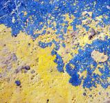 Free Photo - Blue and yellow painted surface