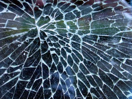 Shattered glass - Free Stock Photo