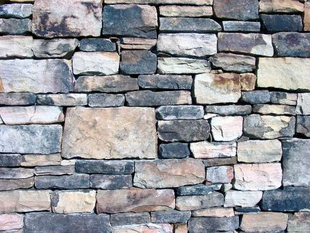 Stacked stone wall - Free Stock Photo