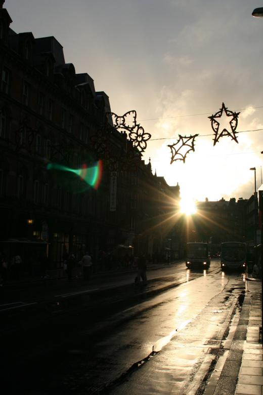 Free Stock Photo of Christmas jingle in the street Created by julian battye